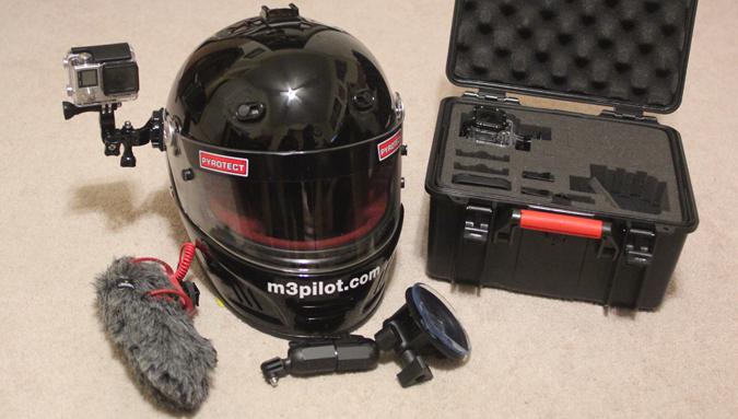 helmet with GoPro